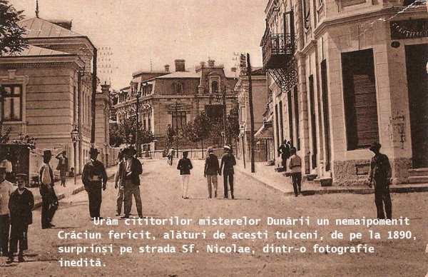 Romania 1910s Tulcea street St. Nicolae nice used Postcard 2 taiata